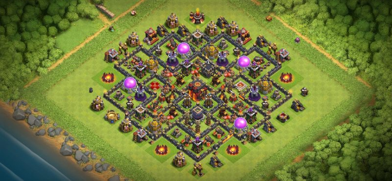 coc level 10 Resource Protection Layout